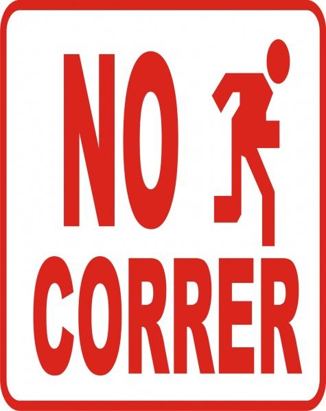 No Correr - Etinca.com | Etiquetas Integrales RCM, c.a ...